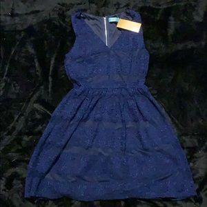 Navy Blue Lace Dress SZ M NWT